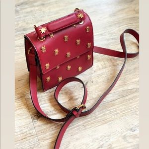 Zara Bug Embellished Crossbody Bag